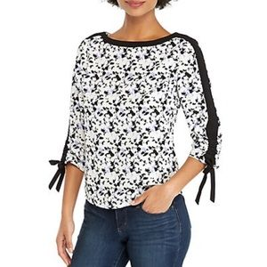 THE LIMITED 3/4 Tie Sleeve Blouse